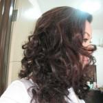 black curl hair