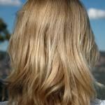 blonde medium length hair