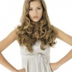 pretty woman with wavy hair