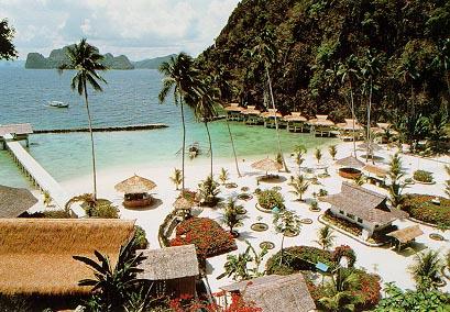 Resort Top View Of Elnido Palawan Beach Photo