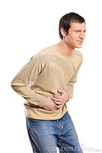 man with gastroenteritis