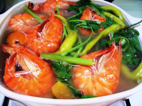 how to cook sinigang na hipon