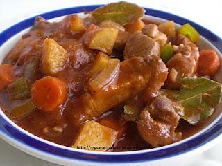 cook pork mechado - recipe and ingredients